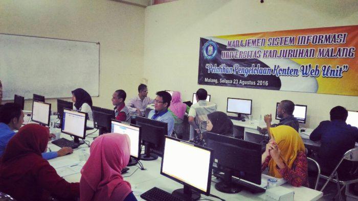 Pelatihan Pengelolaan Konten Web Unit